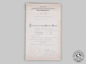 Germany, Luftwaffe. An Austrian Military Merit Cross III Class Certificate to Generalleutnant and KC Winner Rieckhoff