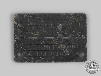 Germany, Third Reich. A Stalag IV-A Allied Officer POW Camp Identification Tag