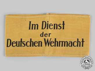 Germany, Wehrmacht. A Civilian Auxiliary Armband