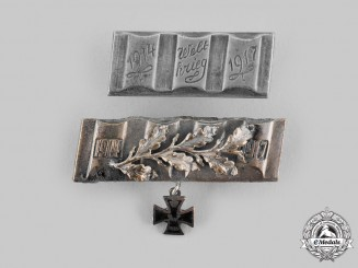 Germany, Imperial. A Pair of Patriotic Iron Cross Brooches