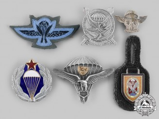 Germany, Israel, Italy, Nepal, Slovakia, Yugoslavia. A Lot of Six Paratrooper Badges