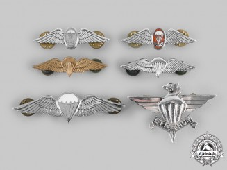 South Africa, Republic. A Lot of Six Parachutist Badges