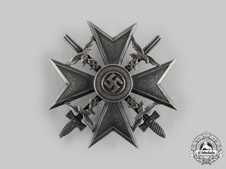 Germany, Wehrmacht. A Spanish Cross, Bronze Grade, with Swords