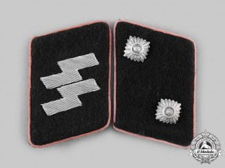 Germany, SS. A Set of Waffen-SS Panzer Oberführer Collar Tabs