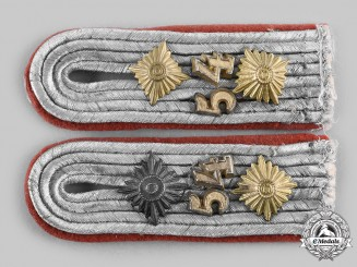 Germany, Heer. A Set of Heer Flak/Artillery Hauptmann Shoulder Boards