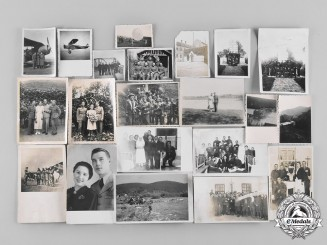 Hungary, Kingdom. A Lot of Prewar and Wartime Photographs of Royal Hungarian Air Force Personnel