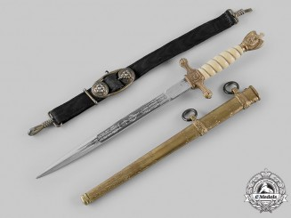 Germany, Kriegsmarine. An Officer's Dagger, by Eickhorn of Solingen