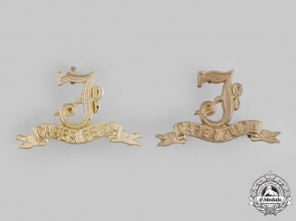 "Canada, Dominion. A 78th Pictou Regiment ""Highlanders"" Collar Badge Pair"