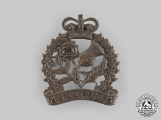 Canada, Dominion. An Annapolis Regiment Cap Badge, c.1924