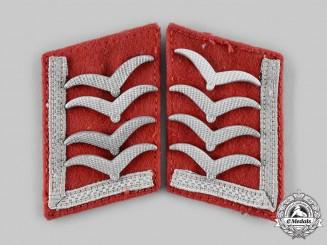 Germany, Luftwaffe. A Pair of Oberfeldwebel Flak Ordnance Collar Tabs