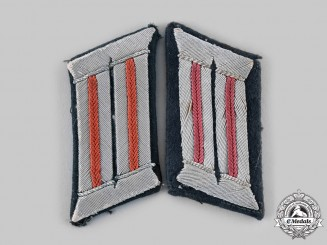 Germany, Heer. A Pair of Artillery Officer Collar Tabs