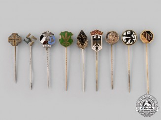 Germany, Third Reich. A Mixed Group of Stick Pins
