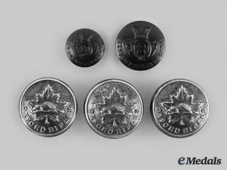 Canada, Dominion. A Lot of Five Militia Buttons, c.1880