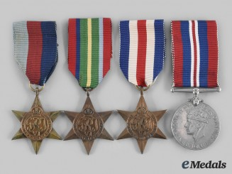 United Kingdom. Four Second War Campaign Awards