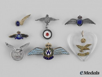 Canada, Commonwealth. A Lot of Seven Royal Canadian Air Force (RCAF) Badges