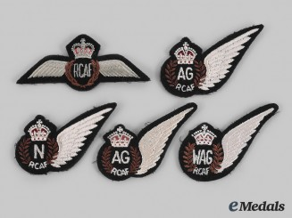 Canada, Commonwealth. A Lot of Five Royal Canadian Air Force (RCAF) Wings