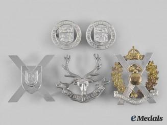 Canada. Five Maritime Provinces-Based Regiments Badges