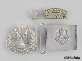 Canada. Four Cameron Highlanders Items