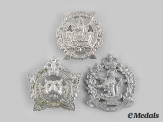 Canada. Three Southern Ontario-Based Regiments Glengarry Badges