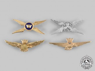 Italy, Republic. A Lot of Four Italian Air Force Badges