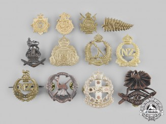 Australia, New Zealand. A Lot of Twelve Army Cap and Collar Badges