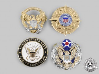 United States. Four Armed Forces Badges