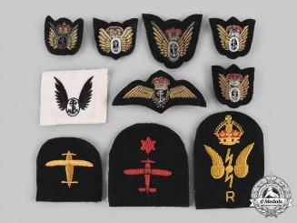 Canada, United Kingdom. A Lot of Ten Fleet Air Arm Badges