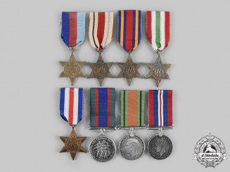 Canada, Commonwealth. A Lot of Eight Second War Campaign Awards
