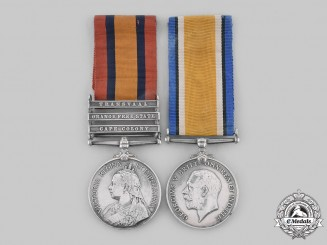 United Kingdom, Canada. A South Africa & First War Pair, Royal Fusiliers, 67th Infantry Battalion CEF