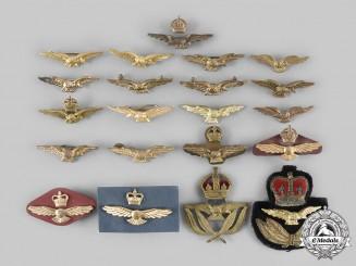 Australia, Canada, United Kingdom. Lot of Twenty-One RAAF, RCAF, RAF Air Force Cap Eagles
