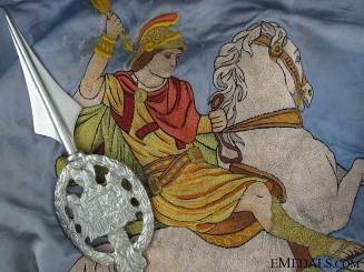 Spain, Franco Period. Falange Centuria San Jorge Alcoy Banner