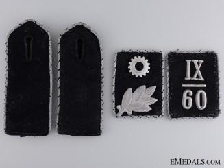 IX/60 Scharführer TeNo Collar Tabs & Shoulder Board Insignia  Consign. #11