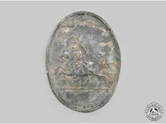 United States. A Dragoon Guards Helmet Plate Attributed to Capt Thornton, Alexandria Dragoons