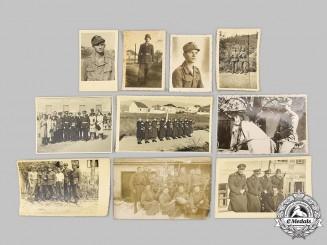 Croatia, Independent State. A Lot of Ten Croatian Home Guard (Domobrani) Photographs