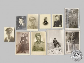 Croatia, Independent State. A Lot of Ten Croatian Home Guard (Domobrani) and Paratrooper Photographs