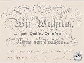 Germany, Imperial. A Crown Order II Class Document to Generalmajor Karl Gynz von Rekowski, 1904