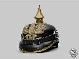 Germany, Imperial. A Prussian Army EM/NCO's M1895 Pickelhaube