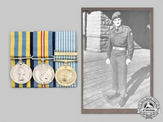 Canada, Commonwealth. A Rare Casualty Medal Trio to Private Ard, 3rd Bat., RCR, Battle of Hill 187