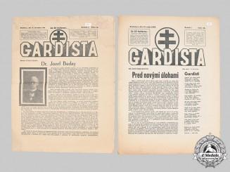 Slovakia, Republic. Lot of Twelve Second War Newspapers