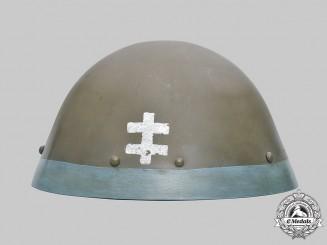 Slovakia, First Republic. An Eastern Front Volunteer M32 Steel Helmet