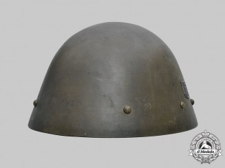 Bohemia and Moravia, Protectorate. A Rare Government Army M32 Steel Helmet