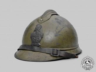 France, III Republic. A First War Army Engineer's M15 Adrian Helmet