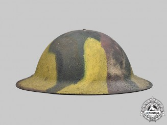 United States. A First War American Manufactured M1917 Camouflage Helmet