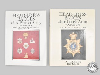 United Kingdom. Head-Dress Badges of the British Army, Volumes One and Two