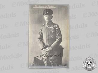 Germany, Imperial. A Wartime Signed Postcard of Generalleutnant Ernst von Hoeppner