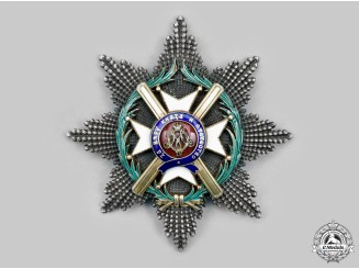 Serbia, Kingdom. An Order of the Cross of Takovo, I Class Grand Cross Star, by G.A. Scheid, c.1900