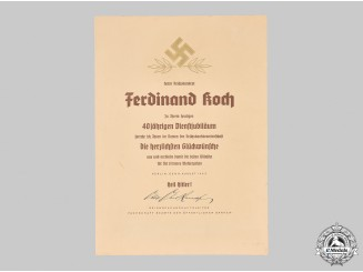 Germany, Third Reich. A Collection of Documents to Reich Bank Councillor Ferdinand Koch