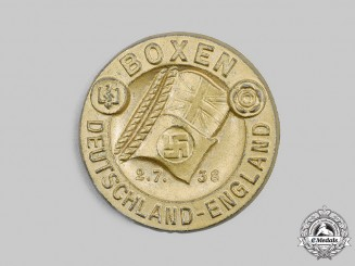 Germany, Third Reich. A 1938 Germany-England Boxing Competition Commemorative Badge