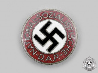 Germany, NSDAP. A Membership Badge, by Hermann Aurich