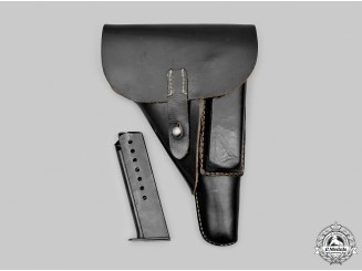 Germany, Wehrmacht. A Walther P38 Pistol Holster, with Clip, c. 1944